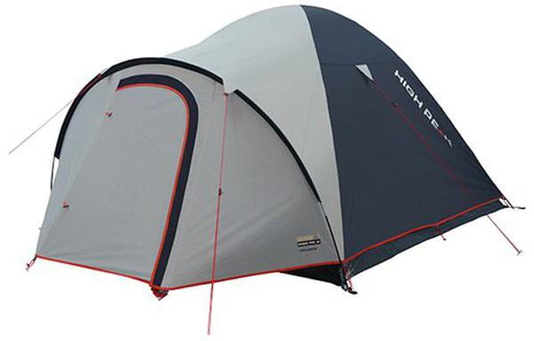 Палатка High Peak Nevada 4, цвет: светло-серый, темно-серый, 290 х 240 х 130 см. 1020610206Nevada 4 High Peak - просторная палатка для семейных путешествий с обширным тамбуром для хранения снаряжения. Отлично подойдет для походов с апреля по сентябрь. Палатка легко устанавливается за 4-5 минут. Сначала устанавливается внутренняя палатка из паропроницаемого материала. Если погода жаркая, и дождя не предвидится, то можно спать без внешнего тента. Размер внутренней палатки по периметру составляет 5 кв. м и позволяет с комфортом расположиться целой семье. Если надо защититься от ветра и дождя, накиньте внешний тент и проденьте третью дугу в рукав на тенте. Материал тента имеет полиуретановое покрытие и водонепроницаемость не менее 3000 мм водяного столба. Это позволяет защититься от сильного ветра и дождя. Все швы проклеены термоусадочной лентой, гарантировано не пропускающей влагу. При фиксации всех пяти оттяжек палатка имеет высокую ветроустойчивость. В комплекте идет пять сверхпрочных стальных 5мм колышка, которые не согнуться на твердой поверхности при установки палатки....