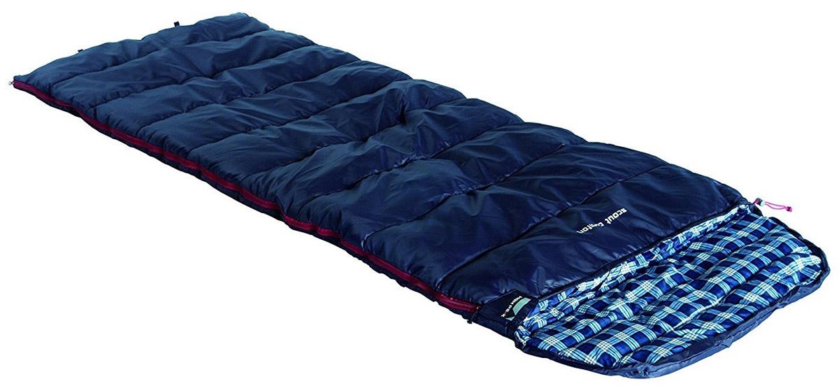 Спальный мешок-одеяло High Peak Scout Comfort, цвет: темно-синий, 80 х 220 см, правосторонняя молния. 2120221202Спальный мешок Scout Comfort High Peak можно использовать как для летних пеших путешествий, так и для семейных кемпинговых выездов. По размеру спальник подойдет как для юниоров, так и для взрослых ростом менее 185 см. Спальники, имеющие правую и левую молнию, могут состегиваться в один большой спальник. Внутренняя ткань спальника Scout Comfort High Peak шелковистая и очень приятная на ощупь. На боковой молнии два бегунка, которые позволяют расстегнуть спальник со стороны ног и сделать вентиляционное окно. Чтобы холодный воздух не проникал сквозь молнию, ее закрывает тепловой клапан. Спальник утеплен одним слоем силиконизированного утеплителя Dura Loft, смешанного с холлофайбером в соотношении 70%/30% 1х250 г/м2 + 1х250 г/м2. В комплекте со спальником идет транспортировочный чехол объемом 16,6 л. Правая молния. Внешняя ткань Полиэстер (с набивкой рипстоп) (Polyester) 185T Внутренняя ткань Паропроницаемый шелковистый полиэстер (Silk Polyester) 190T Утеплитель Dura Loft +...