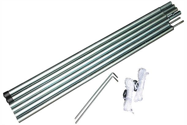 Комплект дуг High Peak Aufstellstangen Set, цвет: металлик, 170 см х 16 мм, 2 шт42280В комплекте 2 дуги, диаметр 16 мм. Длина дуг 170 см