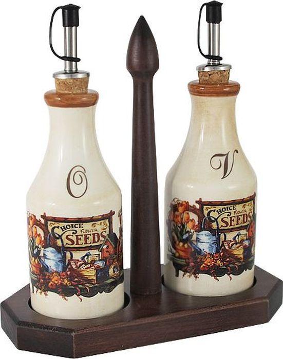 Набор бутылок для масла и уксуса LCS Садовые цветы, на подставке, 2 штLCS072L-SE-ALLCS - молодая, динамично развивающаяся итальянская компания из Флоренции, производящая разнообразную керамическую посуду и изделия для украшения интерьера. В своих дизайнах LCS использует как классические, так и современные тенденции. Высокий стандарт изделий обеспечивается за счет соединения высоко технологичного производства и использования ручной работы профессиональных дизайнеров и художников, работающих на фабрике.