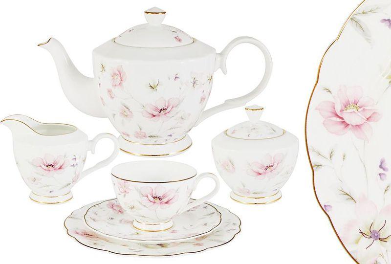 Сервиз чайный Anna Lafarg Emily Розовый танец, 21 предметAL-M1661/21-E9Чайная и обеденная столовая посуда торговой марки Anna Lafarg произведена из высококачественного костяного фарфора. Тончайший костяной фарфор, высокое качество нанесения декора, элегантность форм, уникальный дизайн - все это является отличительной чертой бренда. Коллекция Anna Lafarg Emily представлена, как в виде обеденных и чайных сервизов на 6 и 12 персон, так и наборами для чая в подарочных упаковках. Вся посуда выполнена в классическом стиле, который всегда на пике моды, украсит любой интерьер и принесет уют в каждый дом.