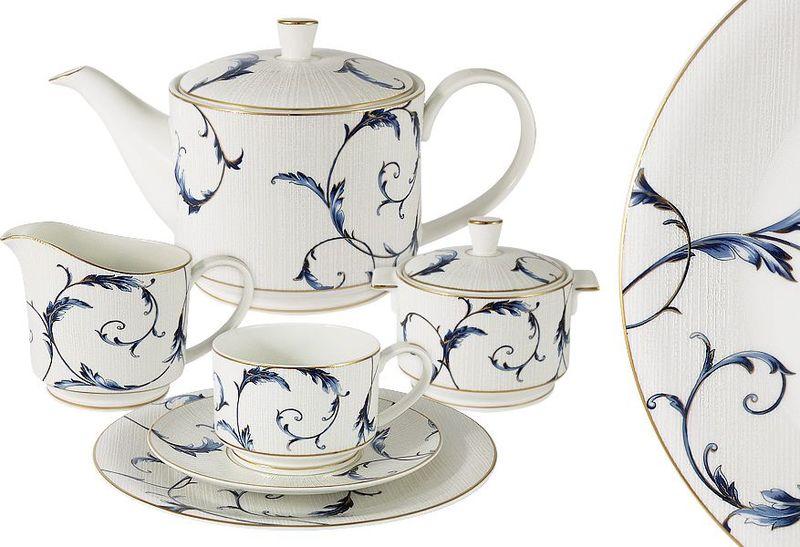 Сервиз чайный Anna Lafarg Emily Элегия, 21 предметAL-M1935/21-E9Чайная и обеденная столовая посуда торговой марки Anna Lafarg произведена из высококачественного костяного фарфора. Тончайший костяной фарфор, высокое качество нанесения декора, элегантность форм, уникальный дизайн - все это является отличительной чертой бренда. Коллекция Anna Lafarg Emily представлена, как в виде обеденных и чайных сервизов на 6 и 12 персон, так и наборами для чая в подарочных упаковках. Вся посуда выполнена в классическом стиле, который всегда на пике моды, украсит любой интерьер и принесет уют в каждый дом.