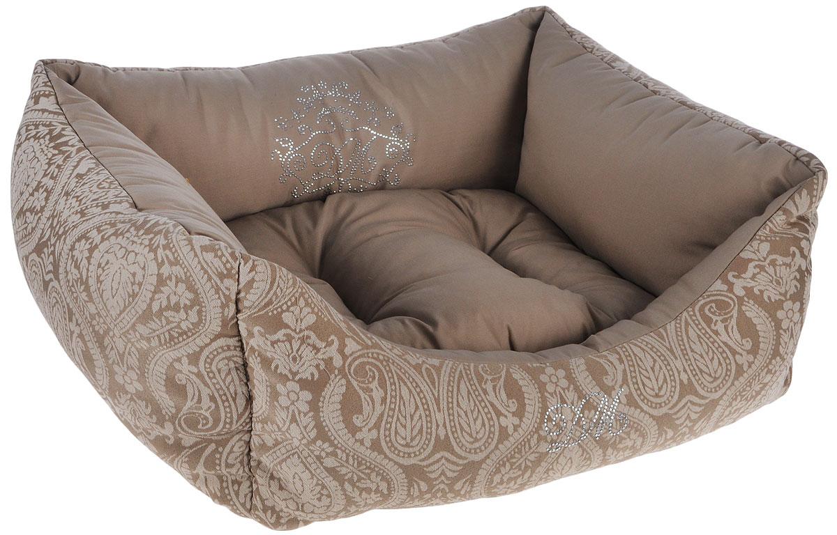 Лежак для животных Dogmoda Элегант, 52 x 46 x 21 смDM-150354-1Лежак для животных Dogmoda Элегант прекрасно подойдет для отдыха вашего домашнего питомца. Предназначен для собак мелких пород и кошек. Изделие выполнено из жаккарда с изысканными узорами и хлопка. Внутри - мягкий наполнитель из холлофайбера, который обеспечивает комфорт и уют. Лежак снабжен съемной мягкой подушкой. Роскошный уютный лежак Dogmoda Элегант станет излюбленным местом отдыха для вашего питомца, а стильный дизайн сделает его настоящим украшением интерьера. Размер лежака: 52 х 46 х 21 см, Размер подушки: 40 х 34 х 7 см.