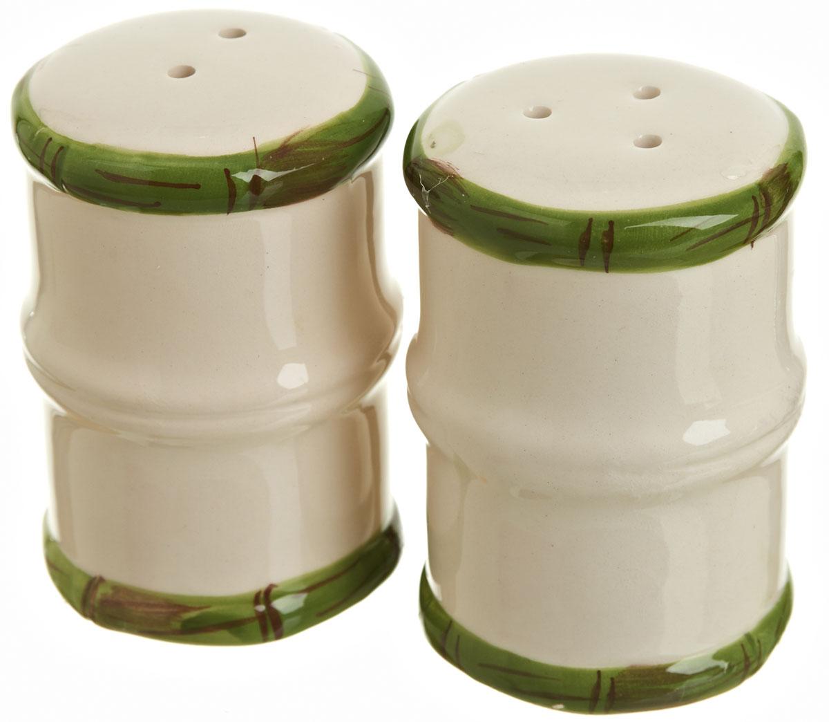 Набор для специй Polystar Nature Design, 2 предметаL0200090Набор для специй Nature Design выполнен из керамики, состоит из солонки и перечницы. Изделия оригинальной формы в виде бамбука. Благодаря своим компактным размерам не займет много места на вашей кухне.