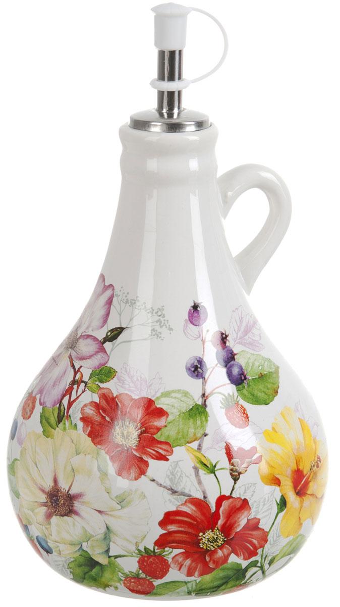 Бутылка для масла Polystar Summer, 550 млL2430930Бутылка для масла Summer изготовлена из высококачественной керамики. Изделие оформлено красочным изображением цветов. Бутылка предназначена для хранения подсолнечного или оливкового масла и уксуса. С помощью специального дозатора вы сможете легко добавить нужное количество жидкости.