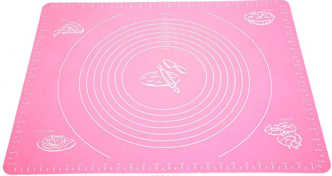 Коврик для выпечки Domodin, цвет: розовый, 40 х 50 смSL4020-1Коврик для выпечки изготовлен из силикона, поэтому легко гнется и выдерживает температуру до +230 °С. Предназначен для гигиеничного приготовления любой выпечки из теста. Коврик оснащен мерной шкалой по краям (48 см х 38 см) и круглым шаблоном для теста (диаметр 15-37,5 см). Раскатывая тесто на таком коврике, вы всегда сможете придать ему нужный размер. Кроме того, тесто не прилипает. Коврик очень удобный и облегчит приготовление теста.