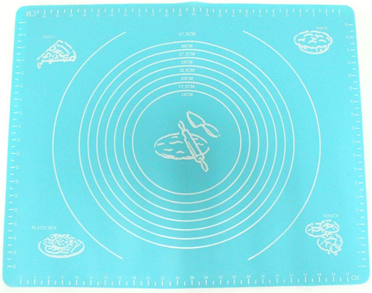 Коврик для выпечки Domodin, цвет: синий, 40 х 50 смSL4020-4Коврик для выпечки изготовлен из силикона, поэтому легко гнется и выдерживает температуру до +230 °С. Предназначен для гигиеничного приготовления любой выпечки из теста. Коврик оснащен мерной шкалой по краям (48 см х 38 см) и круглым шаблоном для теста (диаметр 15-37,5 см). Раскатывая тесто на таком коврике, вы всегда сможете придать ему нужный размер. Кроме того, тесто не прилипает. Коврик очень удобный и облегчит приготовление теста.
