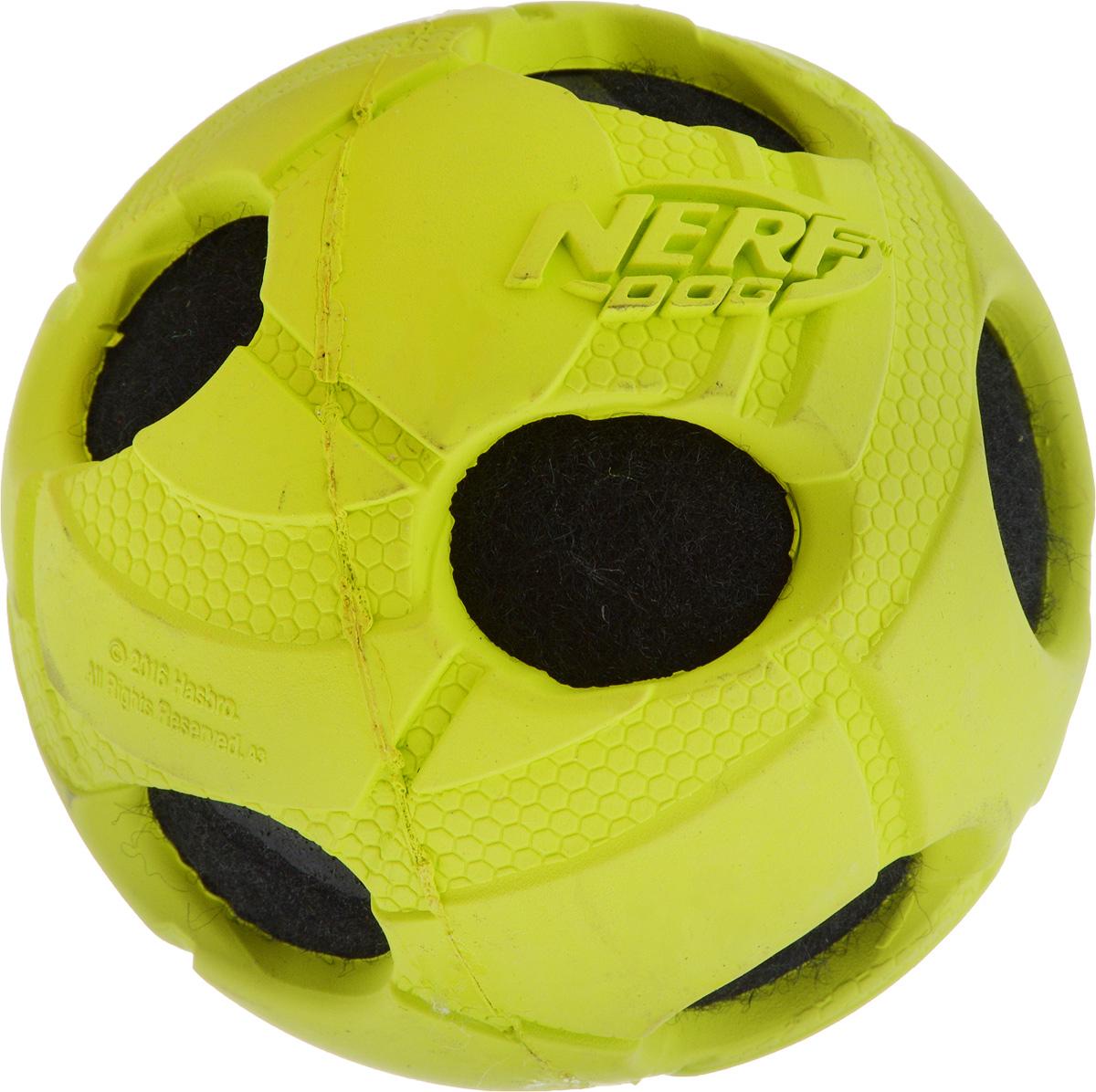 Игрушка для собак Nerf Мяч с отверстиями, диаметр 9 см22293_салатовый, черныйИгрушка для собак Nerf Мяч с отверстиями выполнена из резины в форме мяча. Такая игрушка порадует вашего любимца, а вам доставит массу приятных эмоций, ведь наблюдать за игрой всегда интересно и приятно. Диаметр игрушки: 9 см.