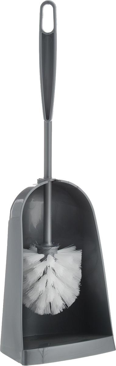 Ершик для туалета Centi Соло, с подставкой, цвет: серый, 2 предмета6406_серыйЕршик для туалета Centi Соло выполнен из высококачественного сложного полимера. Он хранится в специальной подставке, которая обеспечивает гигиеничность использования и облегчает уход. Ершик отлично чистит поверхность, а грязь с него легко смывается водой. Общая высота (с учетом подставки): 40 см. Длина ершика: 36 см. Размер рабочей части ершика: 8 х 8 х 8 см. Размер подставки для ершика: 12 х 11 х 20 см.