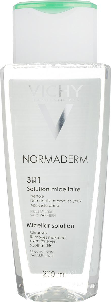 Vichy Мицеллярный Лосьон Normaderm, 200 мл vichy тональный флюид teint ideal тон 25 30 мл