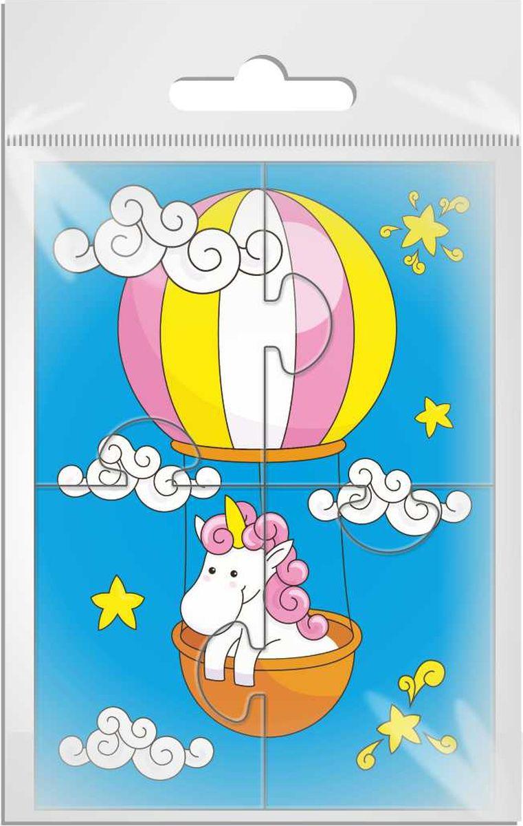 Издательская группа Квадра Магнитный пазл для малышей Единорог на воздушном шаре