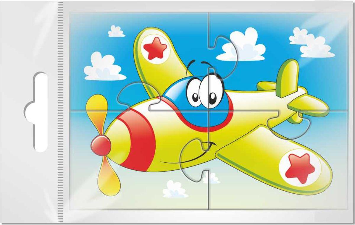 Издательская группа Квадра Магнитный пазл для малышей Самолетик