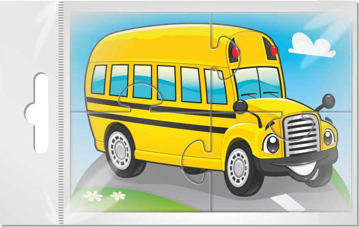 Издательская группа Квадра Магнитный пазл для малышей Желтый автобус