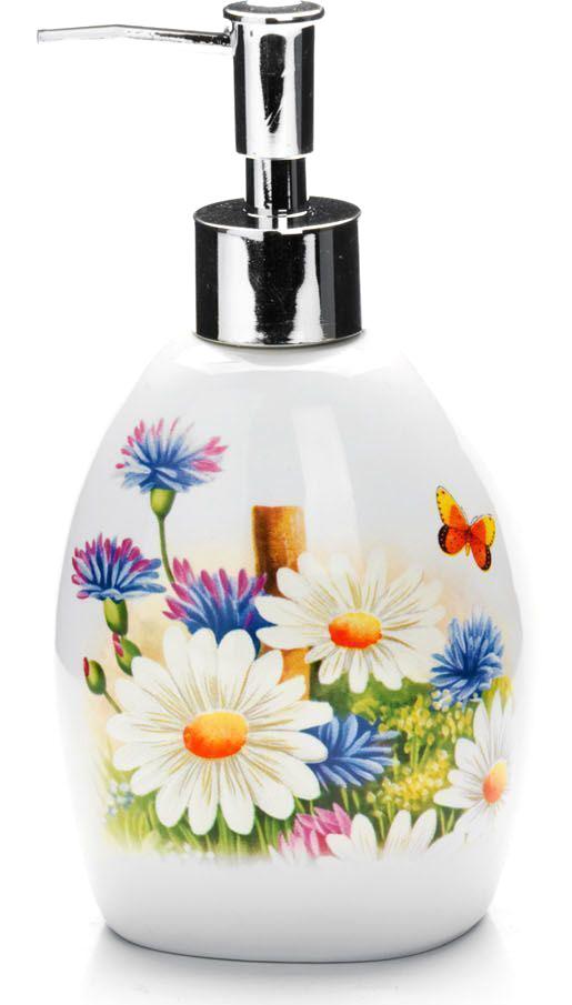 Дозатор для мыла Loraine Лето, 400 мл. 2629926299Дозатор Loraine для жидкого мыла выполнен из прочного доломита высокого качества. За изделием очень легко ухаживать, для этого достаточно просто периодически промывать его водой. Диспенсер может служить как самостоятельным предметом в вашей ванной комнате, так и дополнительным аксессуаром на кухне. Рекомендовано мыть руками.
