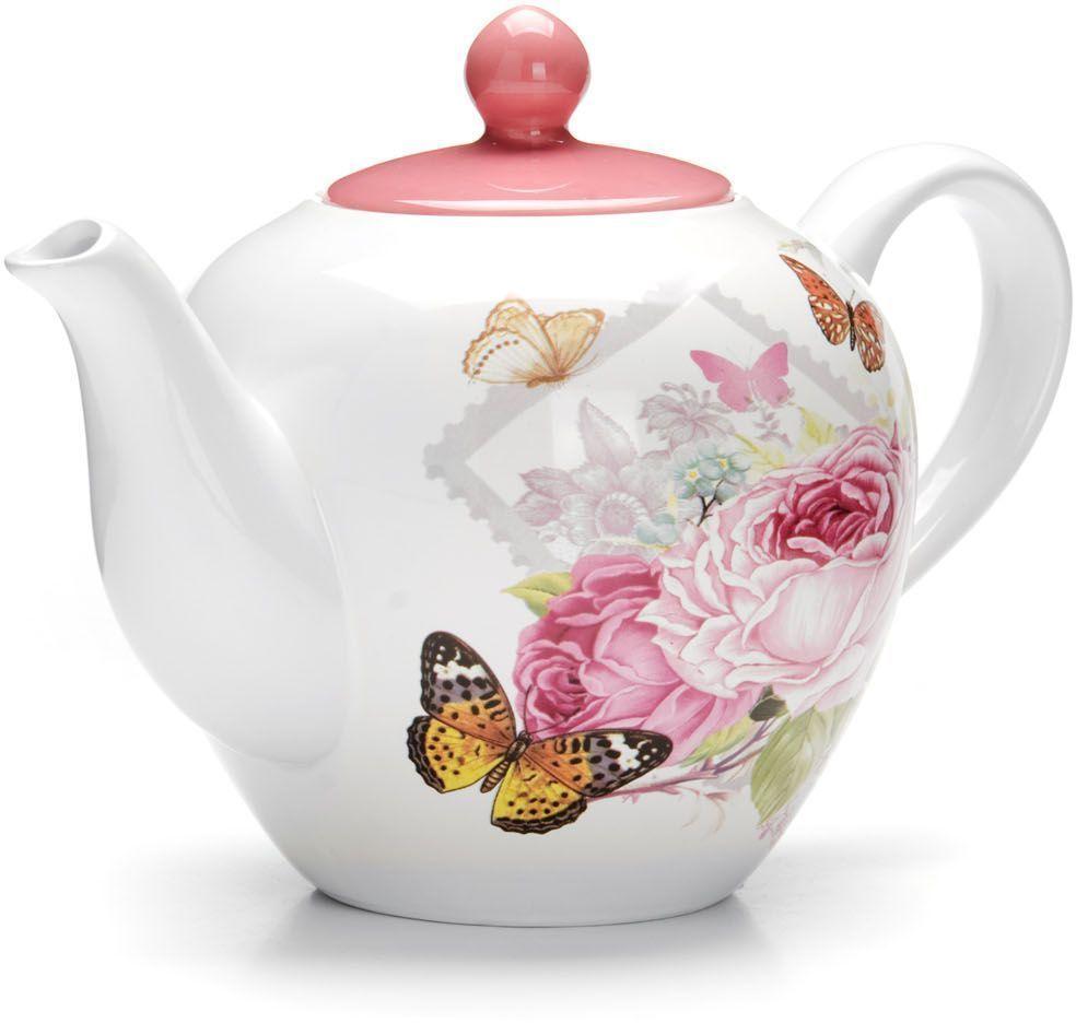 Заварочный чайник Loraine Батерфляй, 1,2 л, с крышкой. 2631426314Заварочный чайник с крышкой Loraine поможет вам в приготовлении вкусного и ароматного чая, а также станет украшением вашей кухни. Он изготовлен из доломитовой керамики в розовых тонах и оформлен красочным цветочным изображением. Нежный рисунок придает чайнику особый шарм, чайник удобен в использовании и понравится каждому. Такой заварочный чайник станет приятным и практичным подарком на любой праздник. Подходит для мытья в посудомоечной машине.
