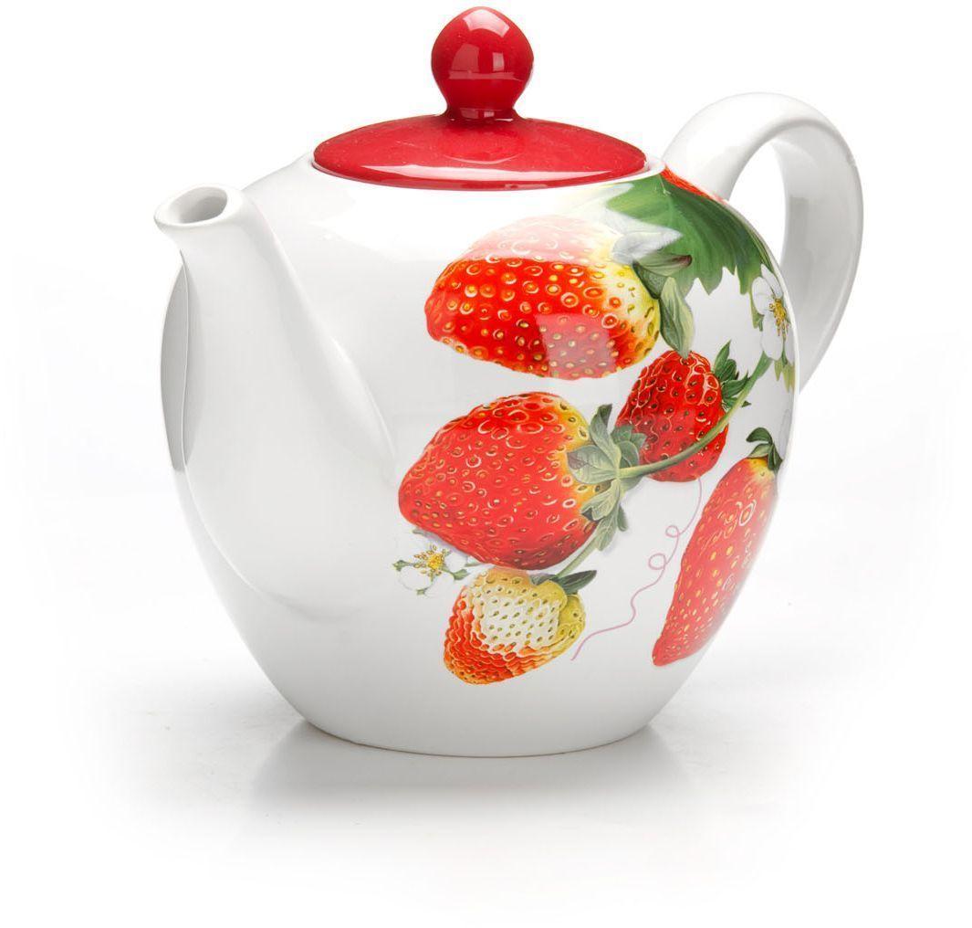 Заварочный чайник Loraine Клубника, 1,2 л. 2634826348Заварочный чайник с крышкой Loraine поможет вам в приготовлении вкусного и ароматного чая, а также станет украшением вашей кухни. Он изготовлен из доломитовой керамики в розовых тонах и оформлен красочным цветочным изображением. Нежный рисунок придает чайнику особый шарм, чайник удобен в использовании и понравится каждому. Такой заварочный чайник станет приятным и практичным подарком на любой праздник. Подходит для мытья в посудомоечной машине.