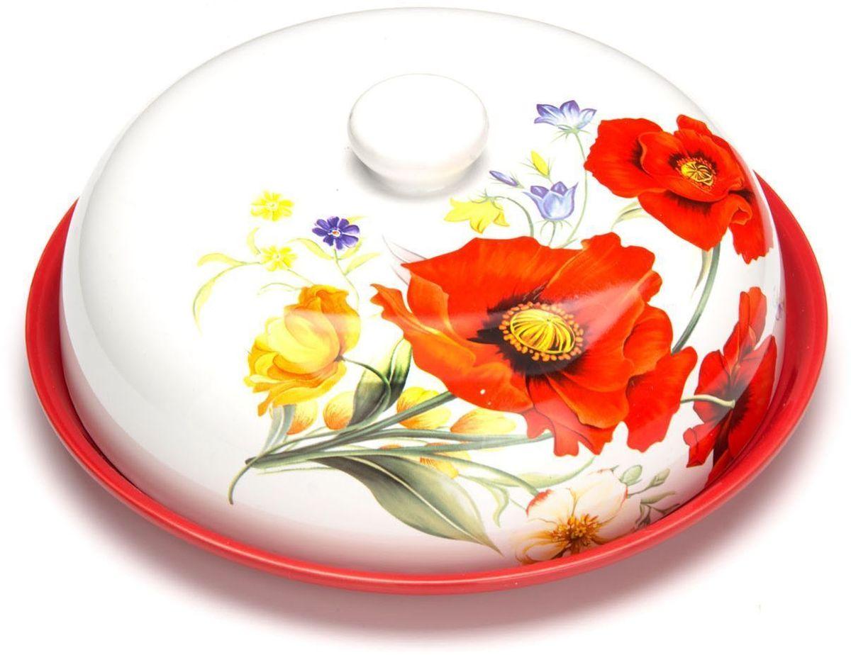 Блюдо для блинов Loraine Маки. 2641226412Блюдо для блинов Loraine изготовлена из доломитовой керамики высокого качества и украшена красивым рисунком. Изделие оснащено крышкой и предназначено для сохранения температуры блинов перед подачей на стол. Такое блюдо понравится любителям яркого оригинального дизайна и станет неотъемлемым атрибутом. Блюдо упаковано в индивидуальную коробку. Подходит для мытья в посудомоечной машине.