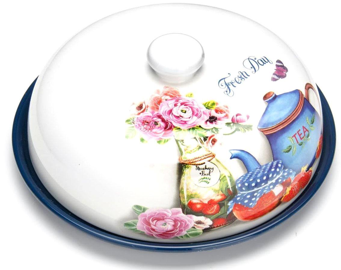 Блюдо для блинов Loraine Натюрморт. 2641426414Блюдо для блинов Loraine изготовлена из доломитовой керамики высокого качества и украшена красивым рисунком. Изделие оснащено крышкой и предназначено для сохранения температуры блинов перед подачей на стол. Такое блюдо понравится любителям яркого оригинального дизайна и станет неотъемлемым атрибутом. Блюдо упаковано в индивидуальную коробку. Подходит для мытья в посудомоечной машине.