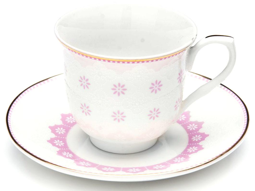 Кофейный сервиз Loraine, 80 мл, цвет: розовый, подарочная упаковка. 26437-226437-2Кофейный набор на 6 персон Loraine выполнен из высококачественного костяного фарфора - материала безопасного для здоровья и надолго сохраняющего тепло напитка.Несмотря на свою внешнюю хрупкость, каждый из предметов набора обладает высокой прочностью и надежностью. Элегантный классический дизайн с тонкой золотой каймой делает этот кофейный набор прекрасным украшением любого стола. Набор аккуратно упакован в подарочную упаковку, поэтому его можно преподнести в качестве оригинального и практичного подарка для своих родных и самых близких. В наборе: 6 кофейных чашек, 6 блюдец. Подходит для мытья в посудомоечной машине.
