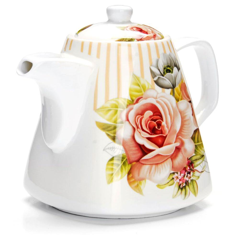 Заварочный чайник Loraine Цветы, 1,1 л. 2654726547Заварочный чайник изготовлен из высококачественной керамики. Посуда из данного материала позволяет максимально сохранить полезные свойства и вкусовые качества воды. Украшенные изящным рисунком стенки чайника, придают ему эстетичности на столе. Чайник изысканно украсит стол к чаепитию и порадует вас классическим дизайном и качеством исполнения. Не использовать в микроволновой печи. Не применять абразивные моющие средства.