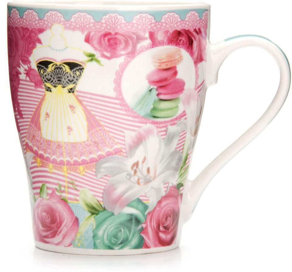 Кружка Loraine Цветы, 340 мл, подарочная упаковка. 26569-126569-1Кружка Loraine, выполненная из костяного фарфора и украшенная ярким рисунком, станет красивым и полезным подарком для ваших родных и близких. Дизайн изделия придется по вкусу и ценителям классики, и тем, кто предпочитает утонченность и изысканность. Кружка Loraine настроит на позитивный лад и подарит хорошее настроение с самого утра. Изделие пригодно для использования в микроволновой печи и холодильника. Подходит для мытья в посудомоечной машине.