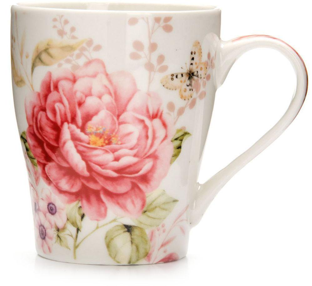 Кружка Loraine Цветы, 340 мл, подарочная упаковка. 26572-126572-1Кружка Loraine, выполненная из костяного фарфора и украшенная ярким рисунком, станет красивым и полезным подарком для ваших родных и близких. Дизайн изделия придется по вкусу и ценителям классики, и тем, кто предпочитает утонченность и изысканность. Кружка Loraine настроит на позитивный лад и подарит хорошее настроение с самого утра. Изделие пригодно для использования в микроволновой печи и холодильника. Подходит для мытья в посудомоечной машине.