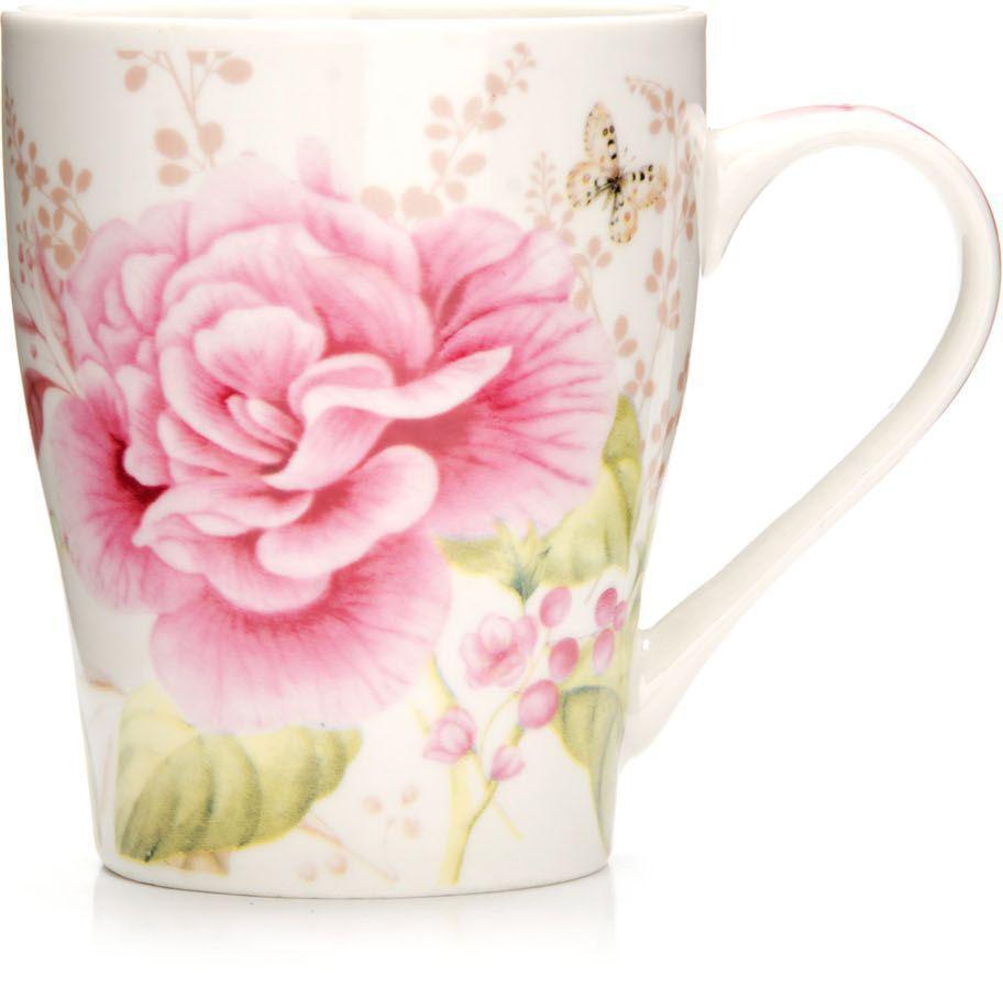 Кружка Loraine Цветы, 340 мл, подарочная упаковка. 26572-326572-3Кружка Loraine, выполненная из костяного фарфора и украшенная ярким рисунком, станет красивым и полезным подарком для ваших родных и близких. Дизайн изделия придется по вкусу и ценителям классики, и тем, кто предпочитает утонченность и изысканность. Кружка Loraine настроит на позитивный лад и подарит хорошее настроение с самого утра. Изделие пригодно для использования в микроволновой печи и холодильника. Подходит для мытья в посудомоечной машине.