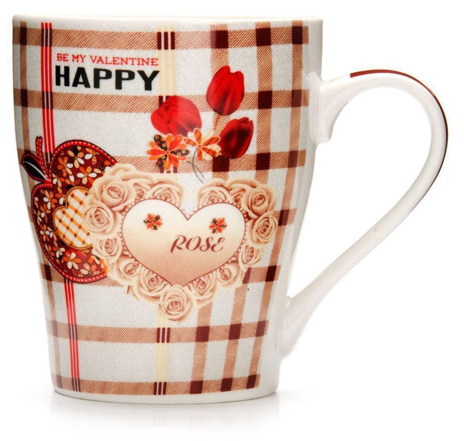 Кружка Loraine Любовь, 340 мл, подарочная упаковка. 26574-226574-2Кружка Loraine, выполненная из костяного фарфора и украшенная ярким рисунком, станет красивым и полезным подарком для ваших родных и близких. Дизайн изделия придется по вкусу и ценителям классики, и тем, кто предпочитает утонченность и изысканность. Кружка Loraine настроит на позитивный лад и подарит хорошее настроение с самого утра. Изделие пригодно для использования в микроволновой печи и холодильника. Подходит для мытья в посудомоечной машине.