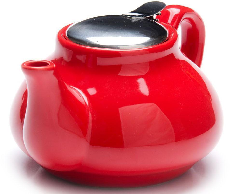 Заварочный чайник Loraine, цвет: красный, 750 мл. 26594-126594-1Заварочный чайник выполнен из высококачественной цветной керамики. Фильтр, из нержавеющей стали, для заваривания раскроет букет чая и не позволит чаинкам попасть в чашку. Удобная металлическая крышка поддержит нужную температуру для заваривания чая. Керамический чайник прост и удобен в применении, чайник легко мыть. Не ставьте чайник на открытый огонь и нагревающиеся поверхности. Подходит для мытья в посудомоечной машине.