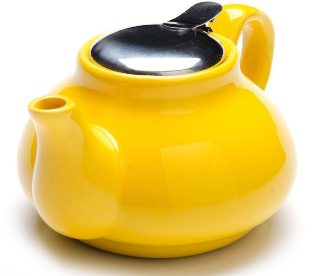 Заварочный чайник Loraine, цвет: желтый, 750 мл. 26594-226594-2Заварочный чайник выполнен из высококачественной цветной керамики. Фильтр, из нержавеющей стали, для заваривания раскроет букет чая и не позволит чаинкам попасть в чашку. Удобная металлическая крышка поддержит нужную температуру для заваривания чая. Керамический чайник прост и удобен в применении, чайник легко мыть. Не ставьте чайник на открытый огонь и нагревающиеся поверхности. Подходит для мытья в посудомоечной машине.