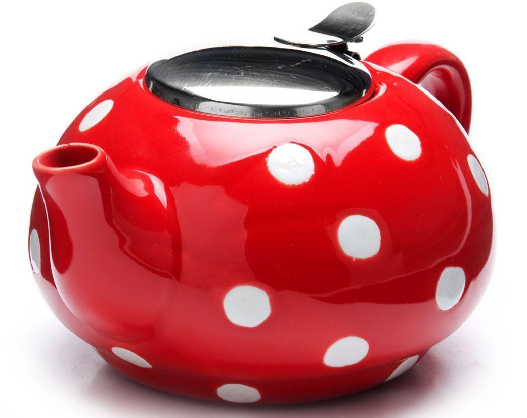 Заварочный чайник Loraine, цвет: красный, 750 мл. 26596-126596-1Заварочный чайник выполнен из высококачественной цветной керамики. Фильтр, из нержавеющей стали, для заваривания раскроет букет чая и не позволит чаинкам попасть в чашку. Удобная металлическая крышка поддержит нужную температуру для заваривания чая. Керамический чайник прост и удобен в применении, чайник легко мыть. Не ставьте чайник на открытый огонь и нагревающиеся поверхности. Подходит для мытья в посудомоечной машине.