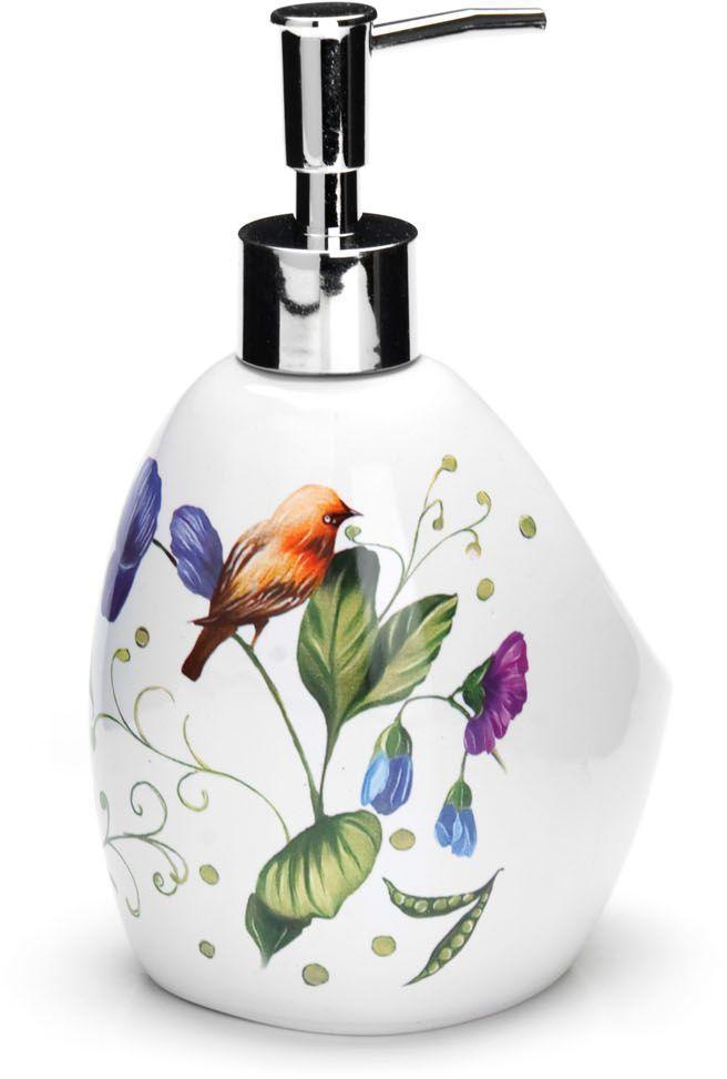 Дозатор для мыла Loraine Птичка, 400 мл. 2661026610Дозатор Loraine для жидкого мыла выполнен из прочного доломита высокого качества. За изделием очень легко ухаживать, для этого достаточно просто периодически промывать его водой. Диспенсер может служить как самостоятельным предметом в вашей ванной комнате, так и дополнительным аксессуаром на кухне. Рекомендовано мыть руками.