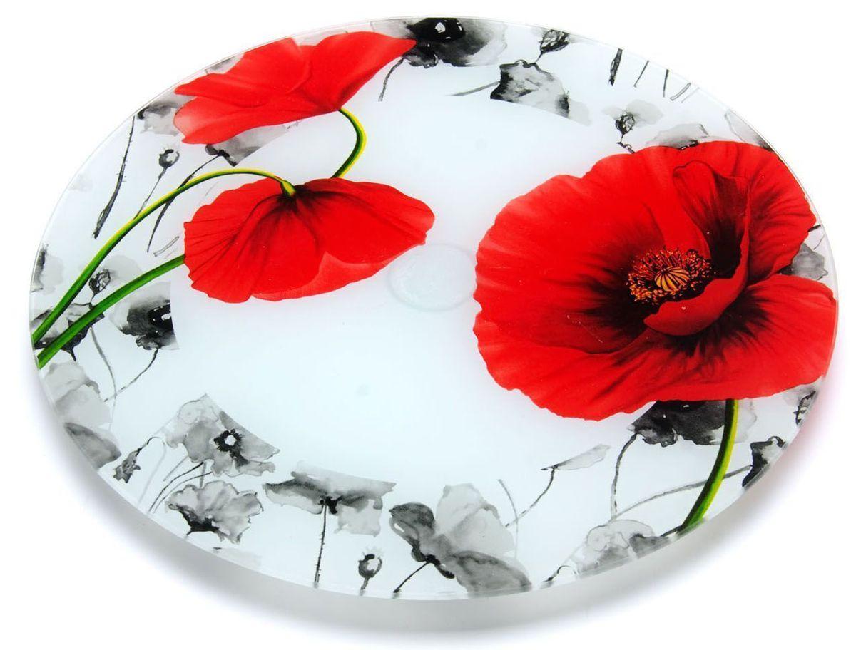 Тортовница Loraine, вращающаяся, диаметр: 30,6 см. 26629-126629-1Вращающаяся тортовница Loraine выполнена из качественного закаленного стекла и украшена ярким рисунком. Изделие идеально подойдет для сервировки не только торта и десертов, но и различных закусок. Вращающийся механизм позволит вам легко их нарезать и взять, не пододвигая постоянно подставку. Оригинальная и стильная тортовница станет достойным украшением вашего праздничного стола. Посуда обладает непористой поверхностью и не впитывает запахи. Легко и быстро моется.