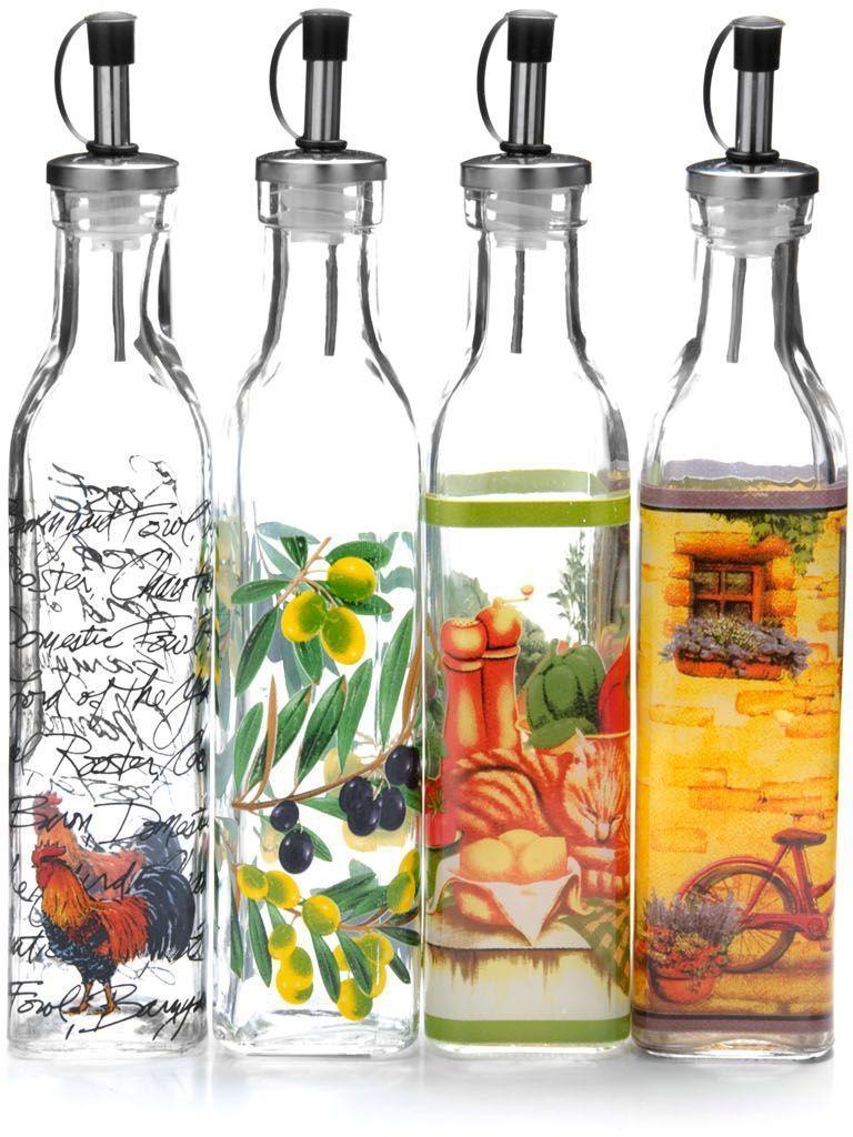 Бутылка для маслаMayer&Boch, 250 мл . 2667426674Бутылка для масла/уксуса выполнена из высококачественного стекла и декорирована красочным рисунком. Объем бутылки 300 мл. Изделие предназначено для хранения и использования различных растительных масел и уксусов. Пластиковая пробка снабжена клапаном с функцией «анти-капля», не допускающим пролива, поэтому вы сможете налить из бутылки ровно столько масла или уксуса, сколько необходимо, не уронив при этом ни одной лишней капли. Оригинальность оформления бутылки украсит любую кухню и послужит отличным подарком! Изделие обладает гладкой непористой поверхностью, не впитывает запахи, легко моется.