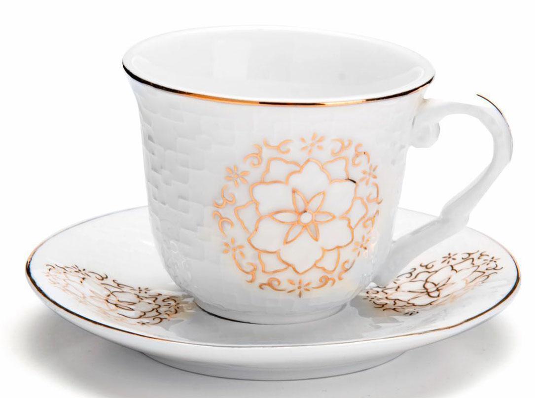 Кофейный сервиз Loraine, 90 мл, подарочная упаковка. 2682626826Кофейный набор на 6 персон Loraine выполнен из высококачественного костяного фарфора - материала безопасного для здоровья и надолго сохраняющего тепло напитка.Несмотря на свою внешнюю хрупкость, каждый из предметов набора обладает высокой прочностью и надежностью. Элегантный классический дизайн с тонкой золотой каймой делает этот кофейный набор прекрасным украшением любого стола. Набор аккуратно упакован в подарочную упаковку, поэтому его можно преподнести в качестве оригинального и практичного подарка для своих родных и самых близких. В наборе: 6 кофейных чашек, 6 блюдец. Подходит для мытья в посудомоечной машине.