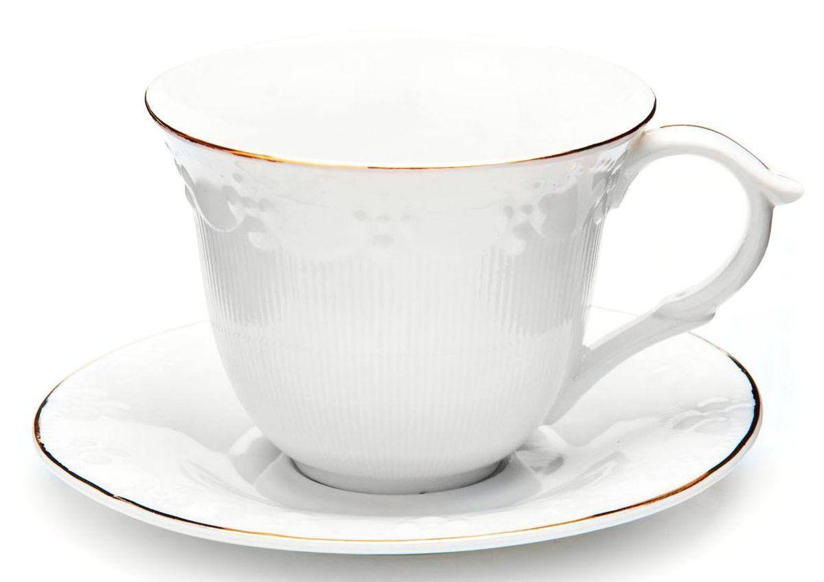 Чайный сервиз Loraine, 200 мл, подарочная упаковка. 2682926829Чайный набор Loraine на 6 персон, изготовленный из высококачественной керамики изысканного белого цвета, состоит из 6 чашек и 6 блюдец. Изделия набора украшены тонкой золотой каймой и имеют красивый и нежный дизайн. Набор придется по вкусу и ценителям классики, и тем, кто предпочитает утонченность и изысканность. Он настроит на позитивный лад и подарит хорошее настроение с самого утра. Набор упакован в подарочную упаковку. Такой чайный набор станет прекрасным украшением стола, а процесс чаепития превратится в одно удовольствие! Это замечательный выбор для подарка родным и друзьям!