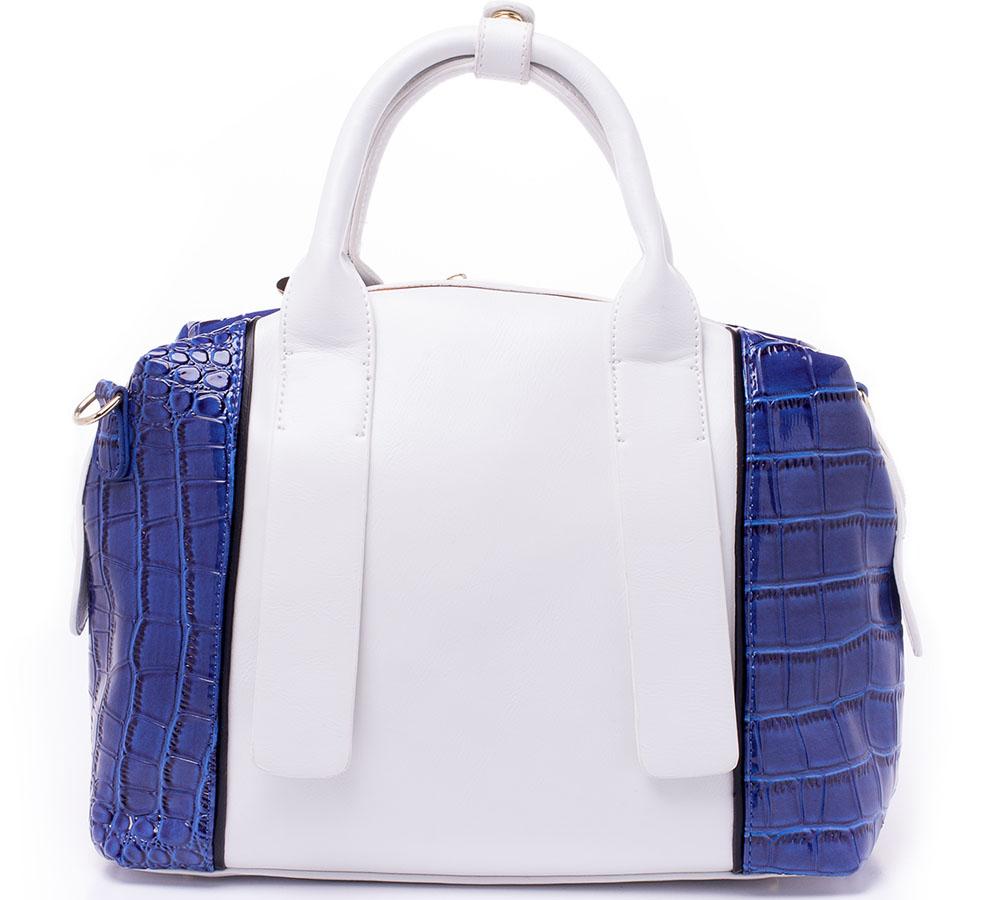 Сумка женская Baggini, цвет: белый, синий. 29889/4329889/43
