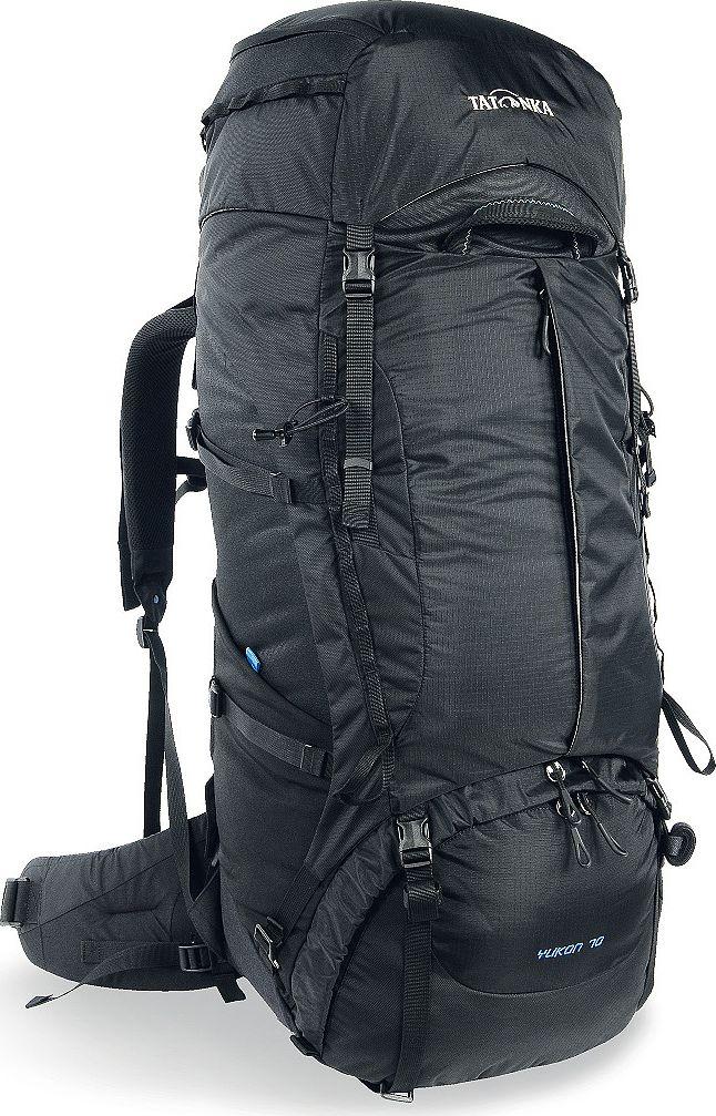 Рюкзак туристический Tatonka Yukon, цвет: черный, 70+10 л1354.040Классический туристический рюкзак - идеальный выбор для разнообразных походов. Рюкзак оптимизирован для грузов среднего веса (до 20-25 кг), и представляет собой идеальный баланс легкости, прочности и комфорта. Система V2 совершенствовалась с годами, и всегда получала самые лучшие оценки как от профессионалов, так и от новичков. В обновленном рюкзаке отлично сочетаются и обновленная система переноски, и более тонкие, но прочные материалы, и максимальный комфорт при переноске рюкзака. Yukon оснащен 3D-входом в основное отделение, что делает более эффективным и быстрым процесс упаковки рюкзака. Дно рюкзака выполнено из прочного непромокаемого материала Cordura. Преимущества и особенности Система переноски V2 Разделенные верхнее и нижнее отделения Фиксаторы для треккинговых палок или ледорубов Полностью адаптивная система настройки спины Компрессионные стропы по бокам Прочные ручки в передней и задней частях рюкзака Прочные молнии размера 10 ...