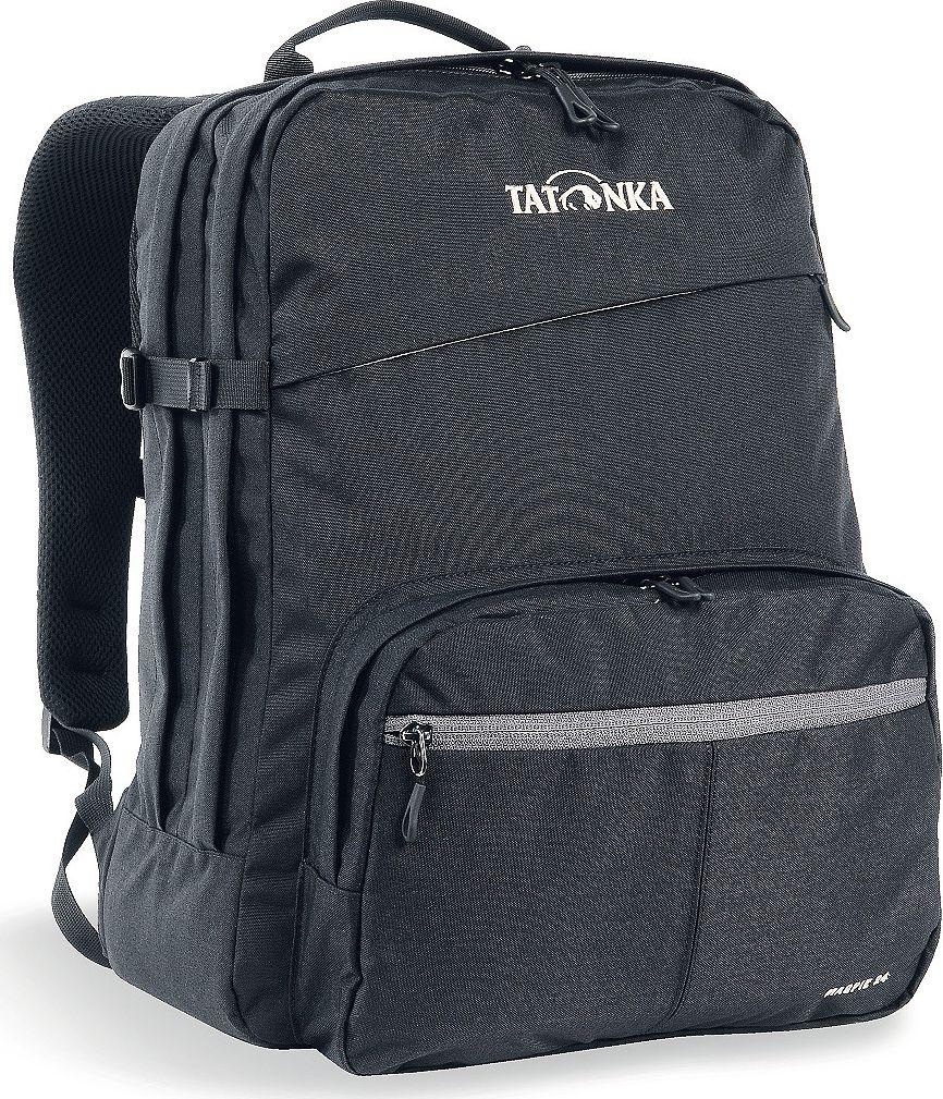 Рюкзак городской Tatonka Magpie, для учебы и работы, цвет: черный, 24 л1617.040Magpie - городской рюкзак для учебы или работы, оснащен двумя отделенями и специальным плотным отделением для ноутбука 15,4 дюйма. Спереди расположен накладной карман с органайзером. Спинка рюкзака плотная - Padded Back. Лямки мягкие засчет мягких вставок. Рюкзак выполнен из ткани Cordura, прочной и износостойкой. Преимущества и особенности:Система подвески Padded Back Эргономичные плечевые лямки Нагруднй ремень регулируется по высоте и ширине Возможность крепления поясного ремня Компрессионные стропы Ручка для переноски Два основных отделения Уплотненное дно Передний карман с органайзером и карманом для смартфона Отделение для ноутбука (не у дна) Держатель для ключей