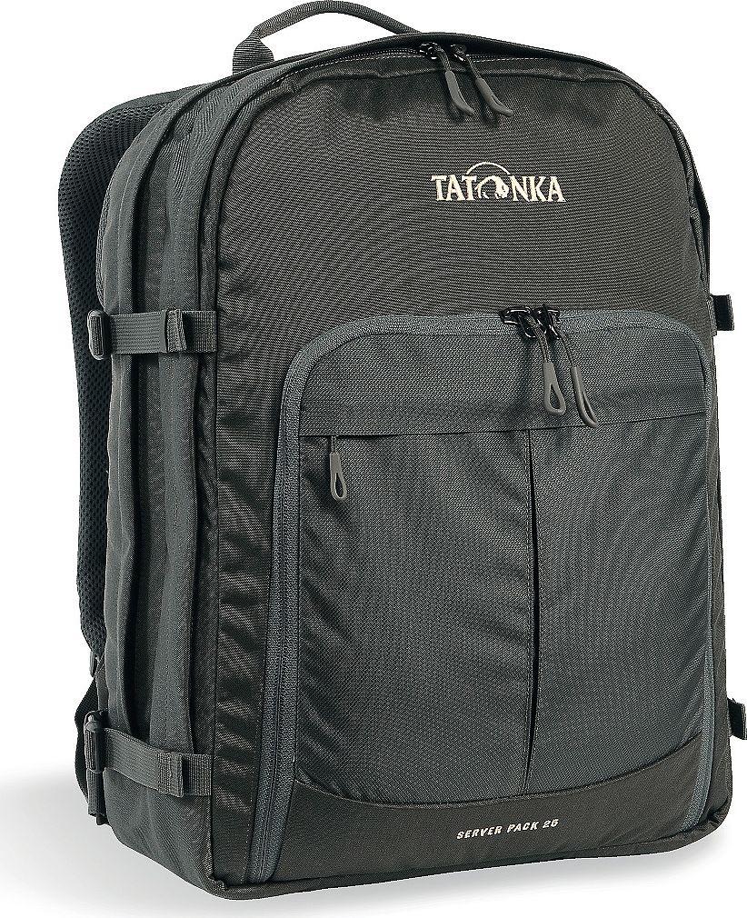 Рюкзак городской Tatonka Server Pack, для учебы и работы, цвет: темно-серый, 25 л1626.021Вместительный рюкзак для офиса или учебы с большими возможностями аккуратного хранения вещей. В двух основных отделениях легко размещаются папки и документы A4 и ноутбук 17 дюймов (для него предусмотрен свой карман). В переднем кармане находится практичный органайзер с мягким отделением для смартфона. Удобная система переноски и мягкие плечевые лямки гарантируют максимальный комфорт. Преимущества и особенности: Спинка Vent Comfort Регулируемый нагрудный ремень Съемный поясной ремень Компрессионные стропы по бокам Ручка для переноски Уплотненное дно Передний карман с органайзером и отделением для смартфона Вшитое отделение для ноутбука (не касается дна) Крючок для ключей