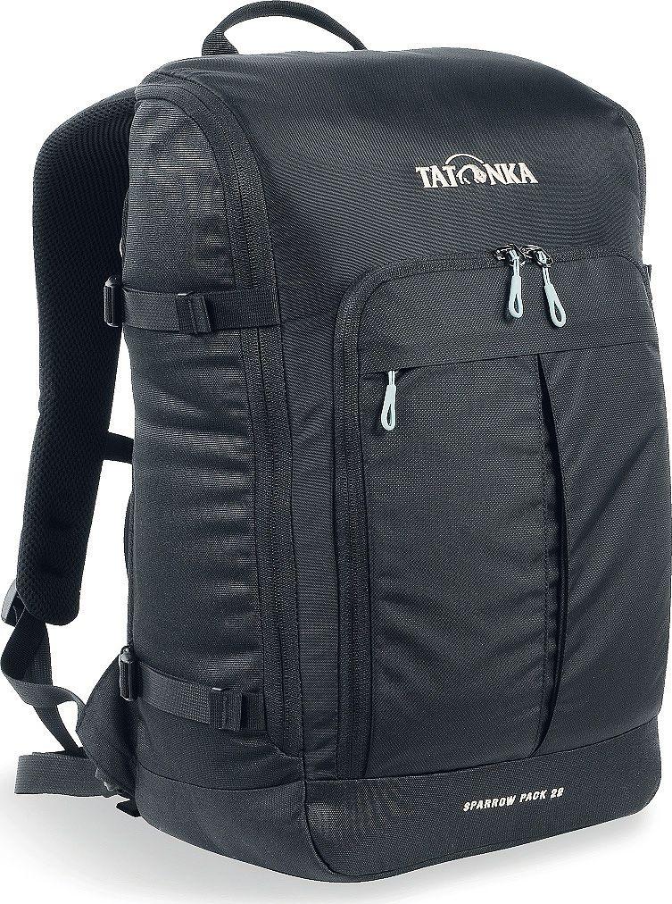 Рюкзак городской Tatonka Sparrow Pack, для учебы и работы, цвет: черный, 22 л1627.040Компактный офисный рюкзак для учебы или работы. Основное отделение открывается полностью благодаря молнии, идущей по периметру рюкзака. Для ноутбука размером до 15,4 дюймов имеется специальное отделение-карман. Рюкзак, также, оснащен передним карманом с удобным органазйером. Рюкзак отлично держит форму, даже если внутри мало вещей. Преимущества и особенности: Спинка Vent Comfort Лямки анатомической формы Регулируемый нагрудный ремень Компрессионные стропы Ручка для переноски Дополнительные карманы в основном отделении Рюкзак открывается полностью Плотное дно Передний карман с органайзером Крючок для ключей Отделение для ноутбука 15,4 дюйма