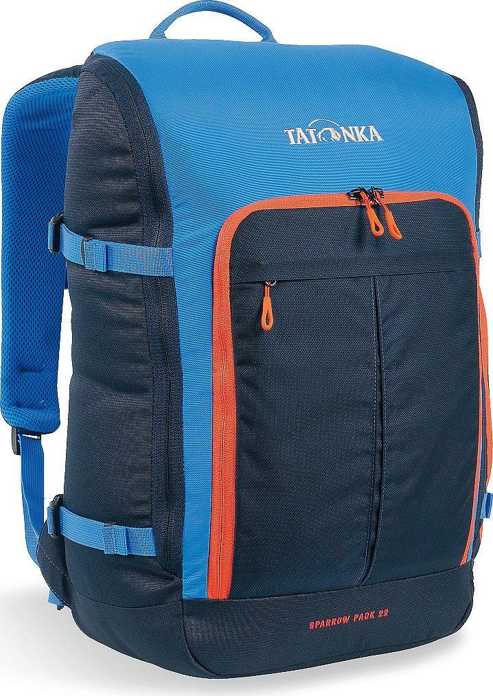 Рюкзак городской Tatonka Sparrow Pack, для учебы и работы, цвет: синий, 22 л1627.194Компактный офисный рюкзак для учебы или работы. Основное отделение открывается полностью благодаря молнии, идущей по периметру рюкзака. Для ноутбука размером до 15,4 дюймов имеется специальное отделение-карман. Рюкзак, также, оснащен передним карманом с удобным органазйером. Рюкзак отлично держит форму, даже если внутри мало вещей. Преимущества и особенности: Спинка Vent Comfort Лямки анатомической формы Регулируемый нагрудный ремень Компрессионные стропы Ручка для переноски Дополнительные карманы в основном отделении Рюкзак открывается полностью Плотное дно Передний карман с органайзером Крючок для ключей Отделение для ноутбука 15,4 дюйма
