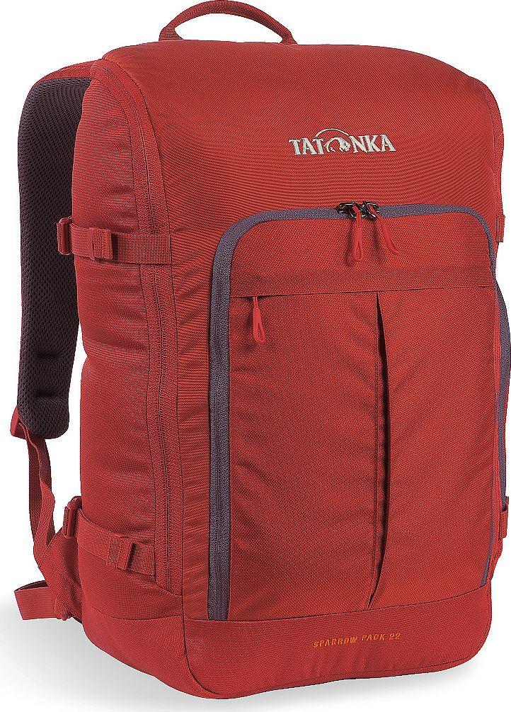 Рюкзак городской Tatonka Sparrow Pack, для учебы и работы, цвет: красный, 22 л1627.254Компактный офисный рюкзак для учебы или работы. Основное отделение открывается полностью благодаря молнии, идущей по периметру рюкзака. Для ноутбука размером до 15,4 дюймов имеется специальное отделение-карман. Рюкзак, также, оснащен передним карманом с удобным органазйером. Рюкзак отлично держит форму, даже если внутри мало вещей. Преимущества и особенности: Спинка Vent Comfort Лямки анатомической формы Регулируемый нагрудный ремень Компрессионные стропы Ручка для переноски Дополнительные карманы в основном отделении Рюкзак открывается полностью Плотное дно Передний карман с органайзером Крючок для ключей Отделение для ноутбука 15,4 дюйма