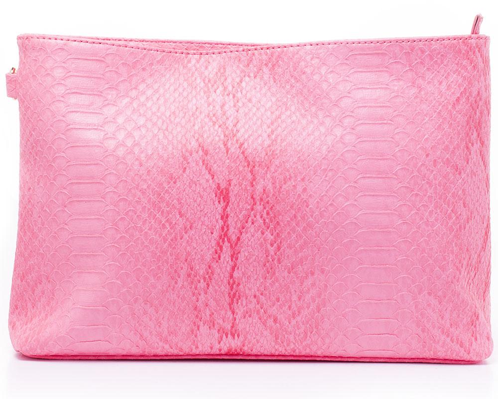 Сумка женская Baggini, цвет: ягодный. 29930/6529930/65Клатч женский Baggini выполнен из искусственной кожи с тиснением под кожу рептилии. Модель с одним отделением. Имеется съемный плечевой ремень.