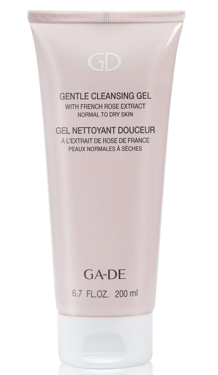 GA-DE Гель для умывания Gentle Cleansing Gel (для сухой и нормальной кожи), 200 мл135400000Мягкий гель на растительных экстрактах нежно снимает макияж, очищает и эффективно восстанавливает гидролипидную мантию кожи, нормализует водно-солевой баланс и прекрасно увлажняет кожу.