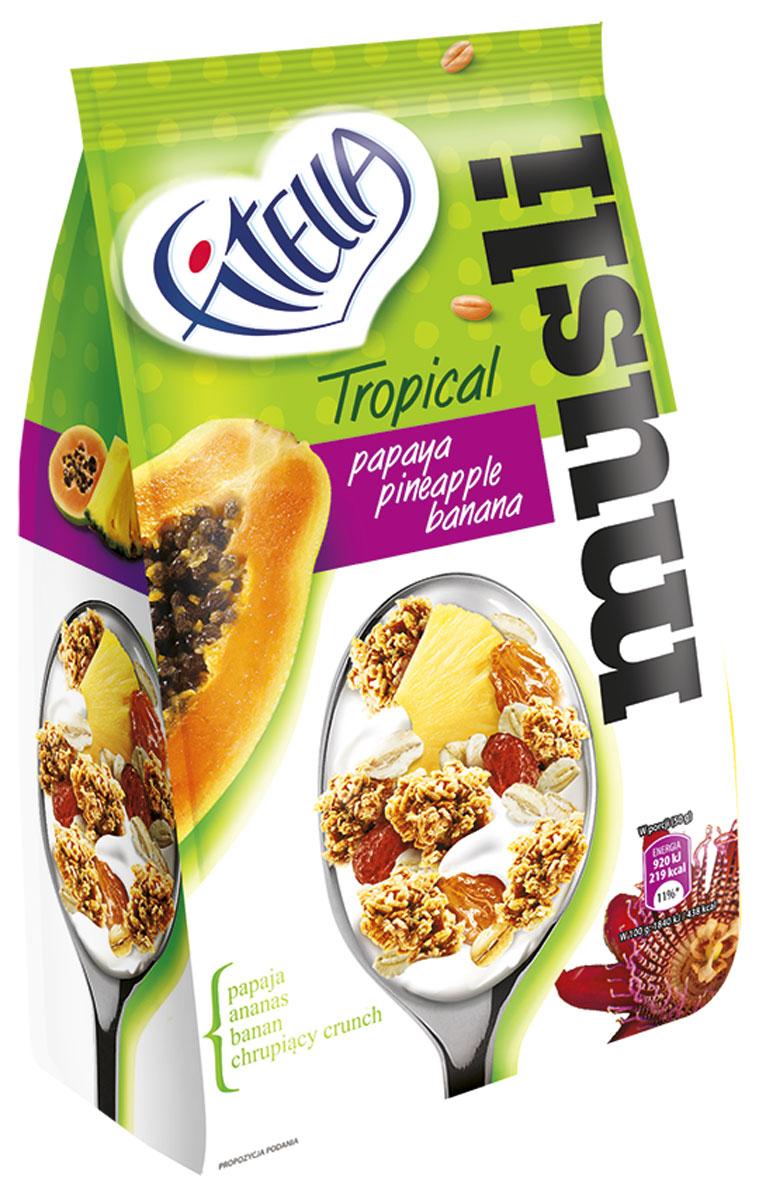 "Fitella ""Muesli Tropic"" мюсли с папайей, ананасом и бананом, 300 г 14287"