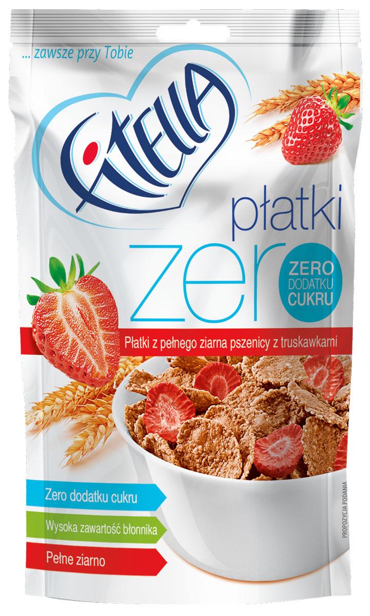 Fitella Zero хлопья пшеничные цельнозерновые с клубникой, 40 г14283Fitella - это европейский бренд на рынке сухих завтраков, который уже завоевал доверие и популярность среди потребителей Европы. Хлопья из цельного зерна без сахара. Абсолютно натуральный состав: Пшеница цельнозерновая - это клетчатка, пищевые волокна, ненасыщенные и полиненасыщенные жиры, заменимые и незаменимые аминокислоты. Отруби пшеничные – большое количество клетчатки, натуральный сорбент, очищение организма. Эмульгатор: моно- и диглицериды жирных кислот. Несмотря на свое сложное название, добавка имеет натуральное происхождение. Лиофилизированная клубника - при лиофилизации максимально сохраняются все витамины свежих фруктов.