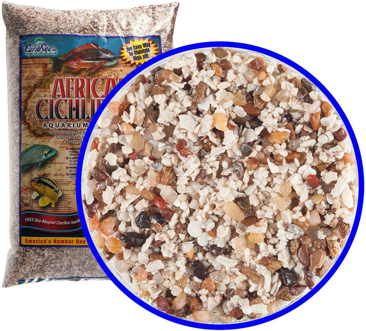 Аквагрунт пресноводный Caribsea Ivory Coast Sand, цвет: мульти, 1-2,5 мм00223Аквариумный грунт премиум-класса для цихлид. Аквариумный грунт соотвецтвует естественному высокому уровню pH и щелочности среды в африканских рифовых озерах- родине цихлид. Смесь цвета ассорти. Размер 1-1,5 мм.