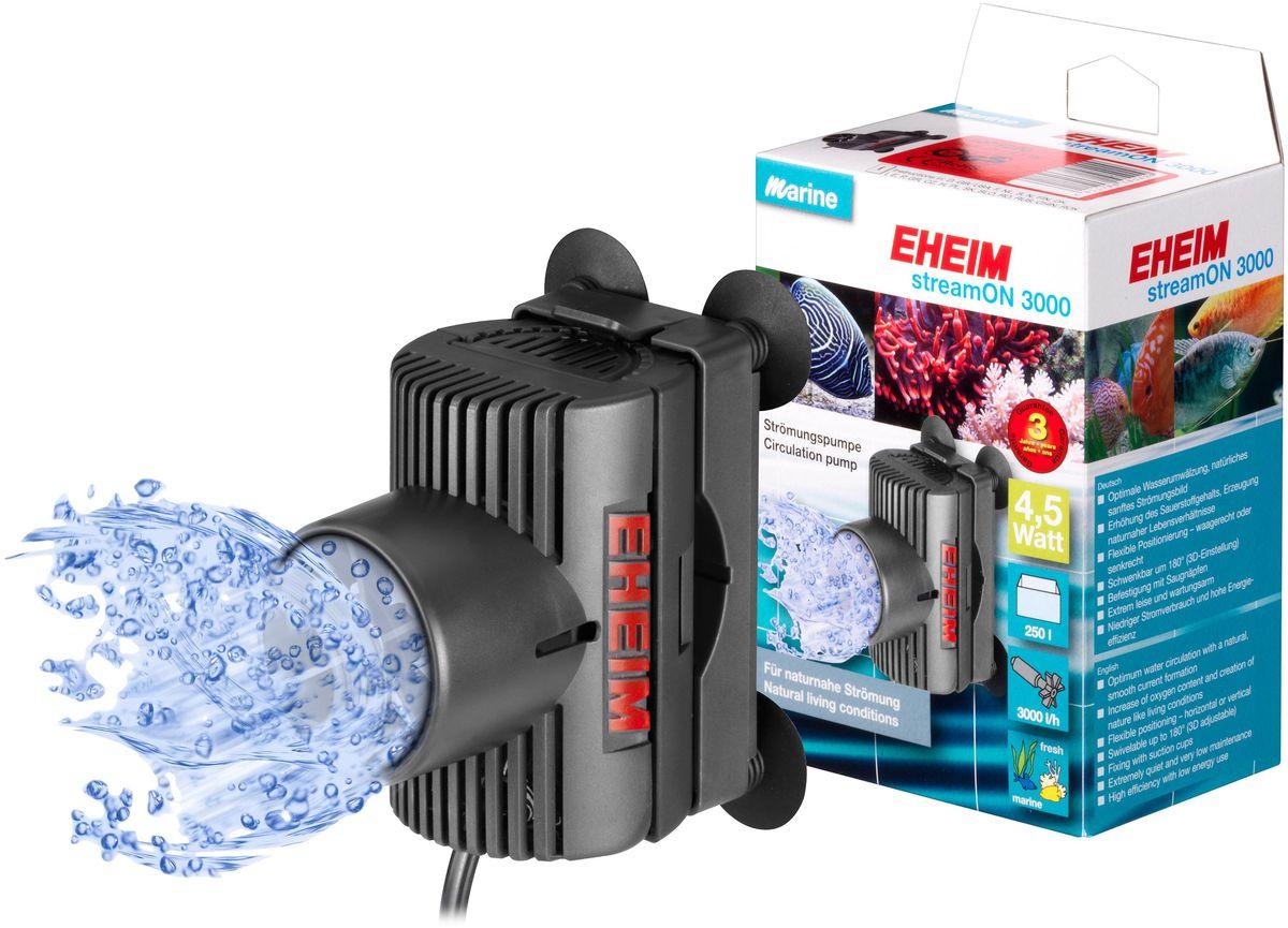 Помпа перемешивающая Eheim Stream-On 30001071220Оптимальная циркуляция воды и повышение содержания кислорода; естественное мягкое течение;гибкая установка в различное положение благодаря вращающемуся устройству крепления; 3D установка, вращение 180*; практически бесшумный и с низкими эксплуатационными расходами; низкое электропотребление и высокая энергоэффективность.