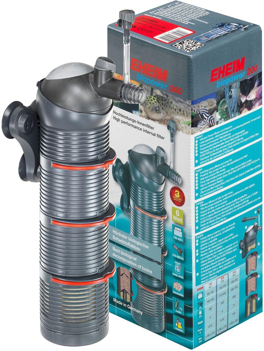 Фильтр внутренний Eheim Biopower 2002412020Многофункциональная фильтрация, как у внешнего фильтра EHEIM. Модульная конструкция фильтра оснащена. Модульная конструкция фильтра оснащена закрытыми модулями, заполненными субстрактом EHEIM SUBSTRAT pro, и одним всасывающим модулем с оригинальным картриджем для фильтра EHEI. Система легкого закрытия Easy-Klick для простого открытия и подсоединения коробки для фильтра одним нажатием! Включенные в набор аксессуары: Мощный диффузор для интенсивного обогащения кислородом и распылительная трубка для естественного перемещения верхних слоёв воды. Готовый к подключению media+. Полностью укомплектовано.